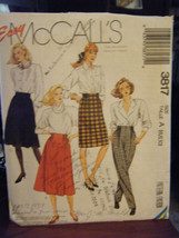 Vintage McCall's 3817 Misses Skirts & Pants Pattern - Sizes 6/8/10 - £3.41 GBP