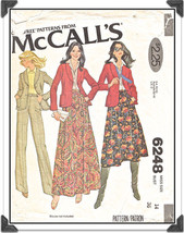 Vintage McCall's #6248 Misses Blazer, Skirt in 2 Lengths & Pants Pattern... - $6.24
