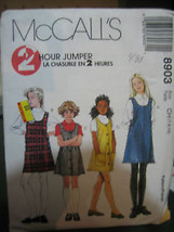 Vintage McCall's 8903 Girl's Jumper Pattern - Size 7-10 - $5.88