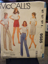 Vintage McCall's 9585 Misses Pants or Shorts Pattern - Size 12 Waist 26 1/2 - $5.66