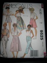Vintage McCall's #9525 Misses Skirt, Culottes & Pants Pattern - Size 8 - $4.46