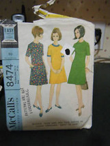 Vintage McCall's 8474 Teen Dress Pattern - Size 12T-14T Bust 31-33 - $6.72
