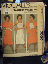 Vintage McCall's 7090 Misses Top, Camisole & Skirt Pattern - Size 12 Bus... - $7.91