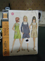 Vintage McCall's 9202 Teen Dress Pattern - Size 11-12 Bust 32 - $6.72