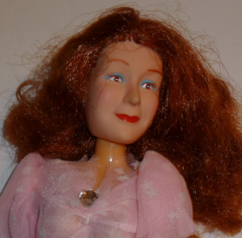 """WIZARD OF OZ GLINDA good witch doll wearing pink gown 11.5"""", 1988 Multi Toys"""
