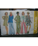 Simplicity 5571 Misses Unlined Jacket, Mini Skirt & Pants Pattern - Size 12 - $6.92