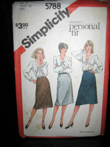 Vintage Simplicity #5788 Misses Proportioned Slim Skirts Pattern - Size 12 - $4.46