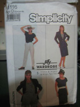 Simplicity 8116 Skirt, Pants, Shorts, Top & Unlined Jacket Pattern - Sz 12/14/16 - $6.24