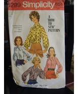 Vintage Simplicity 8299 Misses Blouse & Ascot Pattern - Size 16 Bust 38 - $5.93