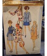Vintage Simplicity 8694 Misses Mini-Pantskirt, Blouse & Vest Pattern - S... - $6.24