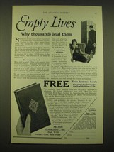 1924 Nelson Doubleday, Inc. Ad - Empty lives why thousands lead them - $14.99