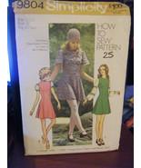 Vintage Simplicity 9804 Princess Fit Mini-Dresses Pattern - Size 11-12 B... - $5.66