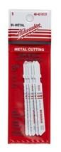 """Milwaukee 48-42-5121 3"""" x 18 TPI T-Shank Metal Cutting Jigsaw Blades 5pk - $7.43"""