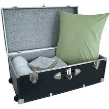Storage Footlocker Trunk Luggage Dorm Wheel Organizer Travel - $99.00