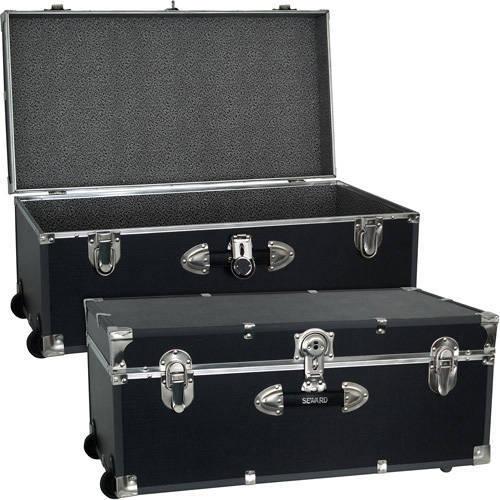 Storage Footlocker Trunk Luggage Dorm Wheel Organizer Travel