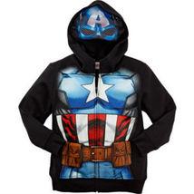 Marvel Comics Boys' Super Hero Fleece Hoodie with Mask – Captain America - $20.29
