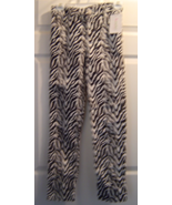 Girls Size 14 KC Parker Hartstrings Zebra Woven Velour Pants New with Tag  - $19.99