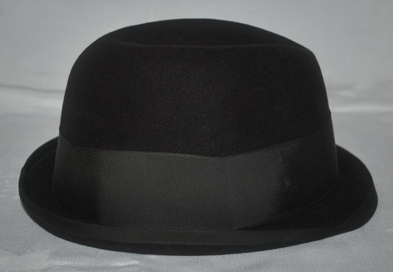9bcf5f19a0947 Vintage Resistol Self Conforming Fedora Fur Felt Size 7 1 4 Black - Free  Ship
