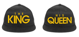 The KING His QUEEN Embroidered, 2 of Snapback Hats - $19.99