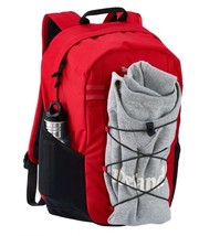 TIMBERLAND CROFTON 28-LITER WATER-RESISTANT BUNGEE BACKPACK RED - $49.30 CAD