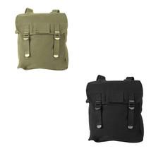 Olive Drab Black Canvas Military Musette Haversack Shoulder Pack Bag Bac... - $17.98