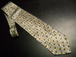 Joseph Abboud Neck Tie Italian Silk Design No 67251 Greyish Greens and Blues - $12.99