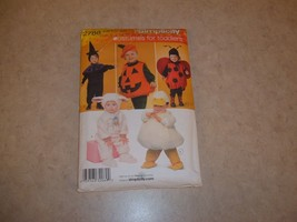 Simplicity 2788 Halloween Costumes For Toddlers Size A 1/2, 1, 2, 3, 4 - $3.49