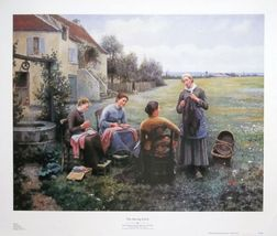 The Sewing Circle - Daniel Knight ,still life poster,71x56cms,  sewing w... - $42.18 CAD