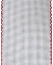 """16ct Aida Stitchband White Red Trim 4""""w x 12"""" cross stitch Zweigart  - $6.00"""