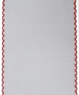 "16ct Aida Stitchband White Red Trim 4""w x 12"" cross stitch Zweigart  - $6.00"