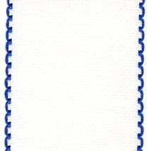 "16ct Aida Stitchband White Navy Trim 4""w x 12"" cross stitch fabric Zweigart  - $6.00"
