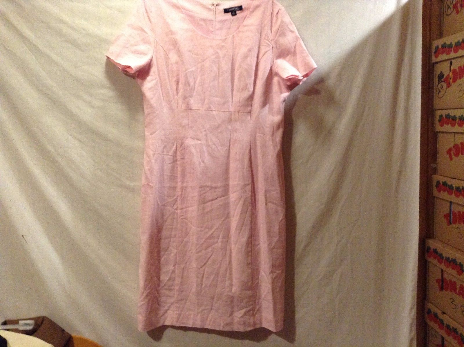 Used Great Condition Chadwicks of Barton Size 14 Pink Dress Zipper Back