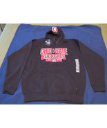 OHIO STATE BUCKEYES ADULT 2XL BLACK w/RED Embroidered LogoHOODED SWEATSH... - $37.04