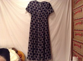 Used Great Condition Cynthia Rowley 10 Rayon Blue Tan Floral Square Dress