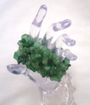"Chunky Aventurine Stone Chip Stretch Bracelet, 7"" New - $15.99"
