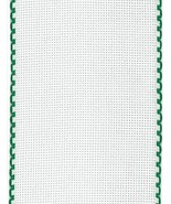 "16ct Aida Stitchband White Green Trim 4""w x 12"" cross stitch fabric Zwei... - $6.00"