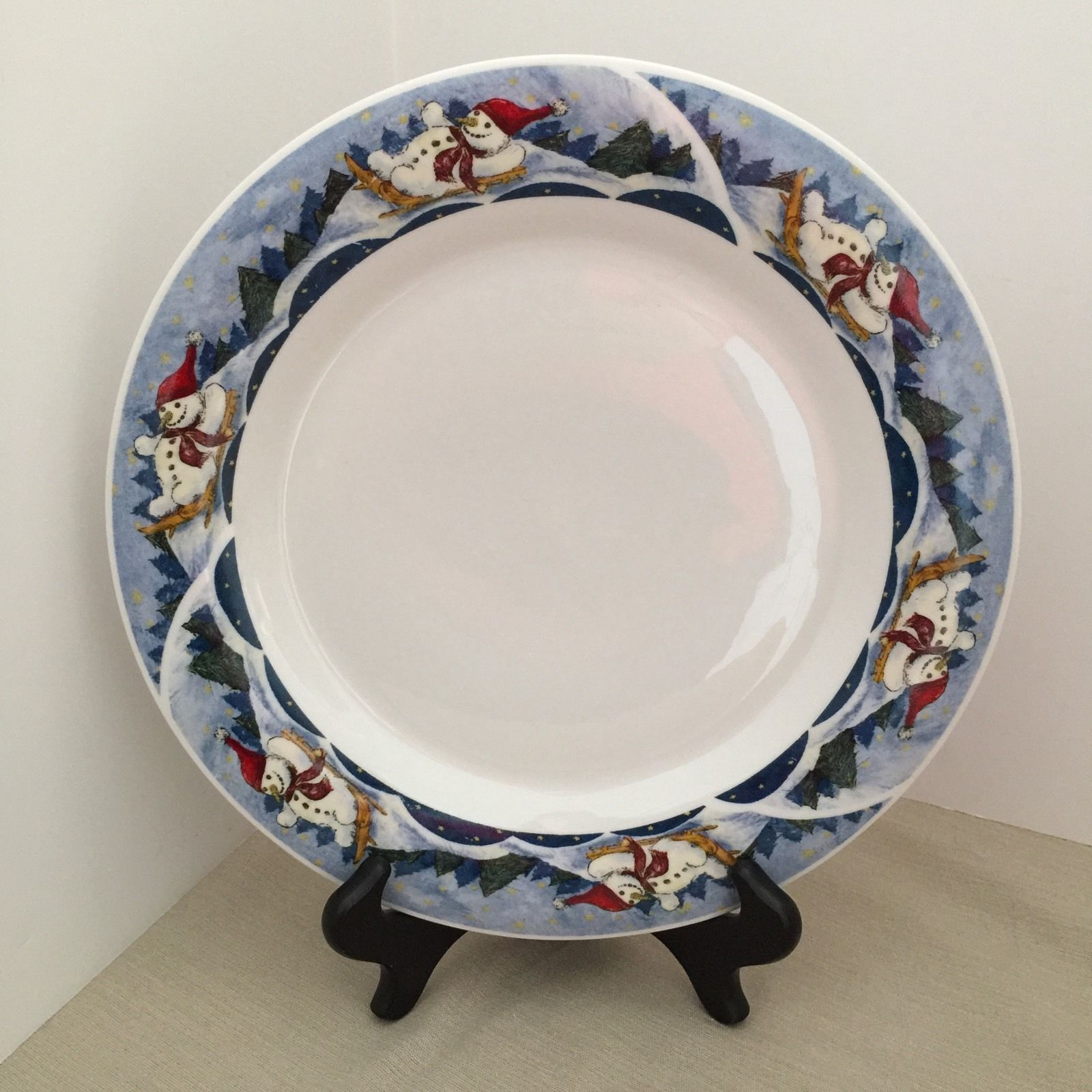 ONEIDA ROUND PLATTER/CHOP PLATE 11\  WIDE HOLIDAY DINING SNOW VALLEY PATTERN - $6.00 & Oneida Plate: 50 listings
