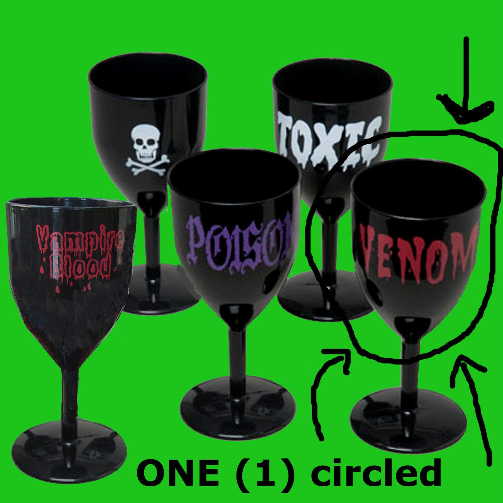 VENOM Halloween BLACK GOTHIC GOBLET Voodoo Prop Costume Party Cup Cocktail Glass