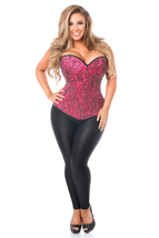 Daisy Corsets Top Drawer Elegant Fuchsia Embroidered Steel Bone Corset - $100.00