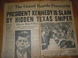 Vintage Grand Rapids MI Press November 22 1963 Kennedy Slain - $15.99