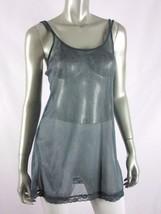 VICTORIA'S SECRET Green/Teal Animal Print Lace Mesh Slip NWOT MEDIUM - $8.91