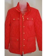 Womens Puffer Jacket Petite MED Coral Tile Captiva Charter Club   - $27.99