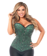 Daisy Corsets Top Drawer Elegant Green Embroidered Steel Boned Corset  - $100.00