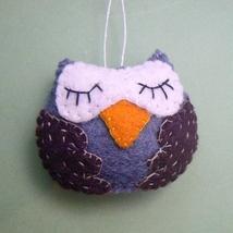 Wool Felt Owl Christmas Ornament - $5.95