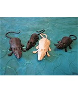 Tricky Joke Fake Lifelike Mouse Set of 4 for Halloween Gift Toy Party or... - $3.95