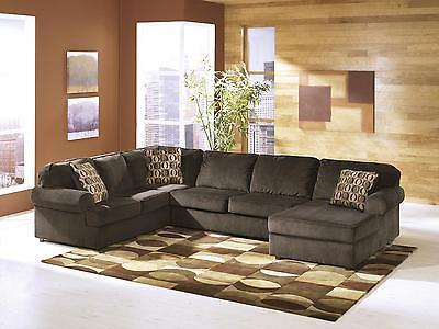 Ashley Vista Living Room Sectional 3pcs in Chocolate Right Facing Contemporary