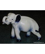 **ULTRA RARE** Royal Doulton Blue Flambe Elephant Figurine With Trunk In... - $2,909.03