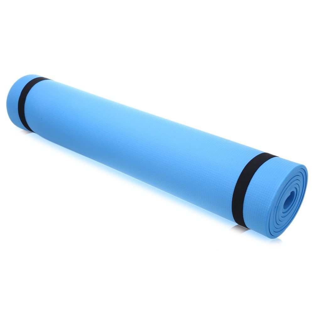 """6mm Thick Non-Slip Yoga Mat Exercise Fitness Lose Weight 68""""x24""""x0.24"""" Blue Pink"""