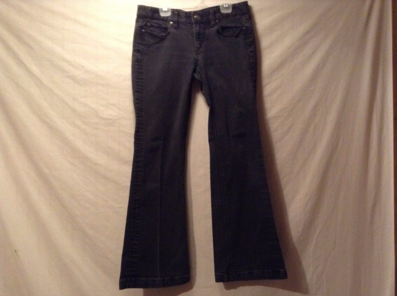 Used Great Condition Ann Taylor Loft Modern Flare Black Jeans Cotton Blend