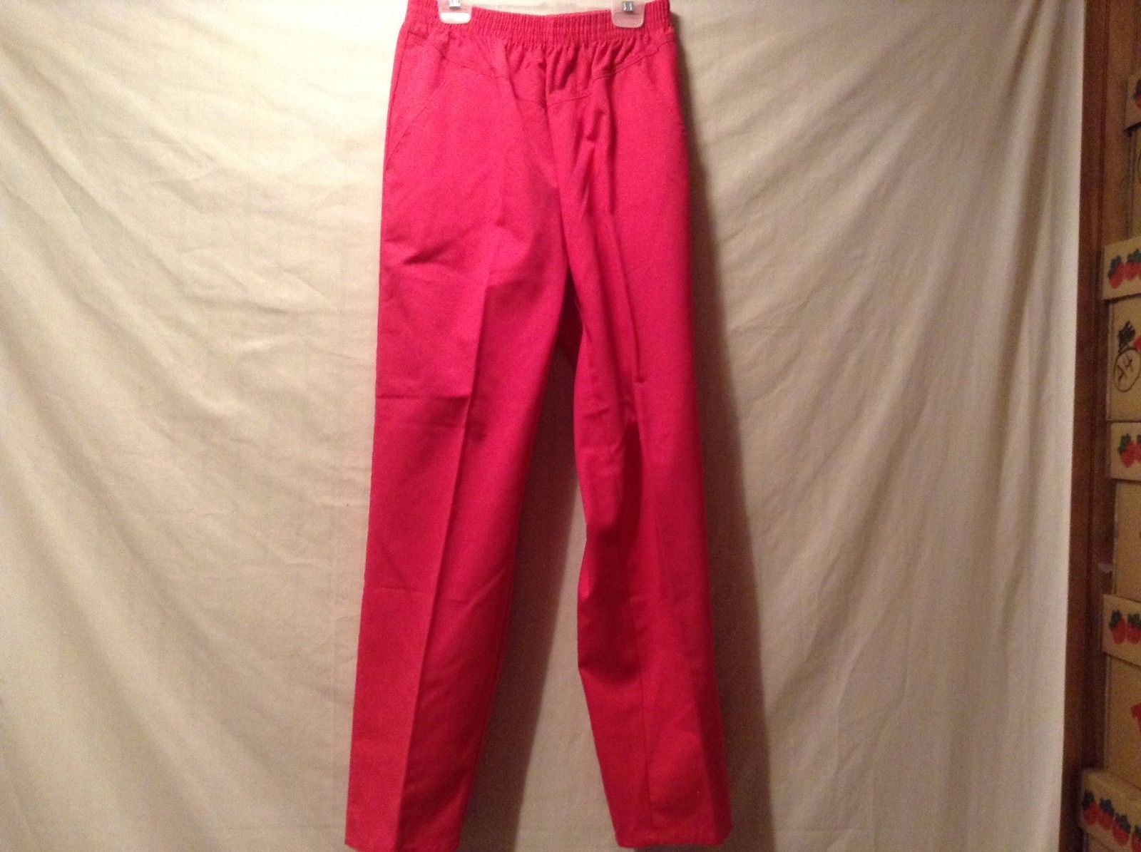 Used Great Condition Lord Isaacs Size 8 Elastic Top Pink Pants 2 Pockets